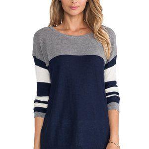 CC California/Revolve Mesh & Striped Mix Sweater